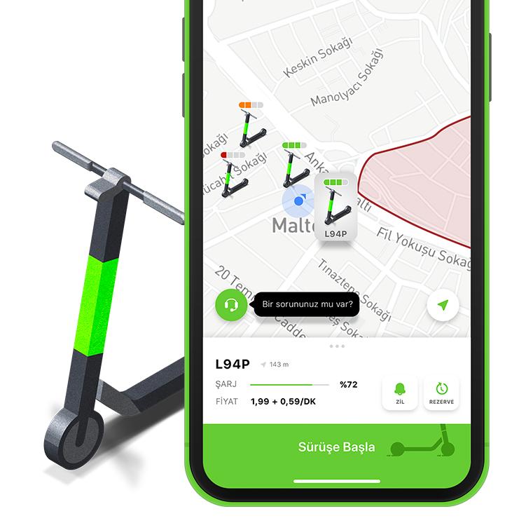 Martı – Scooter Kiralama Uygulaması / Redesign